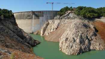 Septembre 2018, Le barrage en travaux